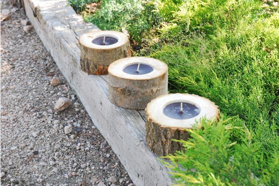 Tutorial decoraci n para los jardines en el sitio de - Troncos para jardin ...